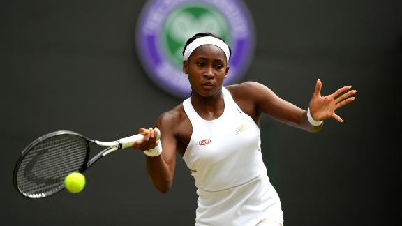 Cori Gauff lost to former world No.1 Simona Halep at Wimbledon.