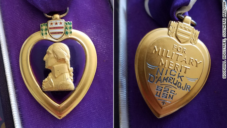 A Goodwill store found a World War II sailor's Purple Heart. Now they want to find his family