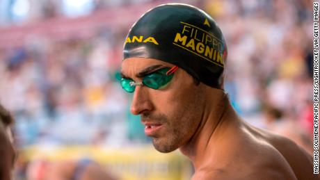 Olympic swimmer Filippo Magnini saved the life of a man who was drowning off a Sardinian beach.
