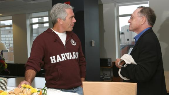 Jeff Epstein with Alan Dershowitz in this September 2004 file photo.