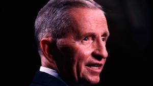 Presidential candidate Ross Perot following a televised debate between with George Bush and Bill Clinton. (Photo by Jeffrey Markowitz/Sygma via Getty Images)