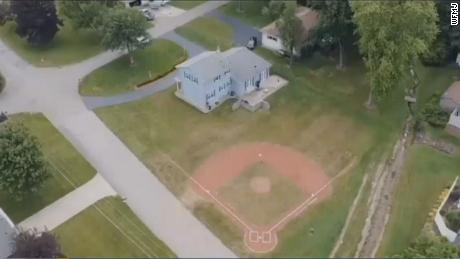 The baseball diamond in Brookfield Township, Ohio.