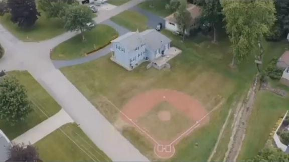 The baseball diamond in Brookfield Township, Ohio.
