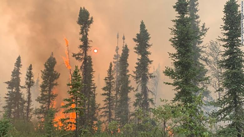 The Hess Creek Fire has been burning since June 21 in central Alaska.
