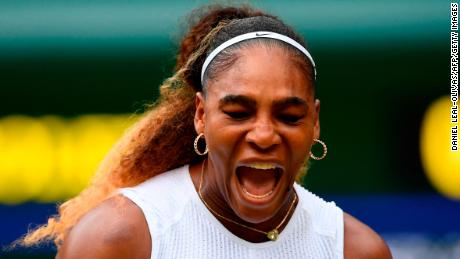 Serena Williams defeated Alison Riske to advance to the semifinals at Wimbledon on Tuesday.