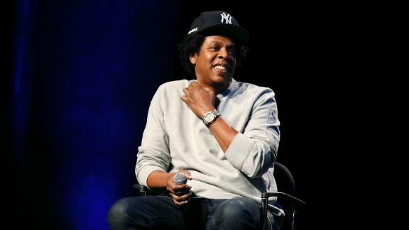 Shawn 'Jay-Z' Carter at the Criminal Justice Reform Organization Launch in New York City.
