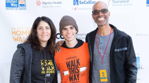 LOS ANGELES, CALIFORNIA - NOVEMBER 18: Libby Boyce, Actor Cameron Boyce, and Victor Boyce attend the United Way Celebrates 11th Annual HomeWalk To End Homelessness IN L.A. County at Los Angeles Grand Park on November 18, 2017 in Los Angeles, California.  (Photo by Greg Doherty/Getty Images)