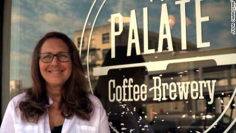 Tina Kadolph opened Palate Coffee Brewery in 2015 to fight human trafficking and help fellow survivors