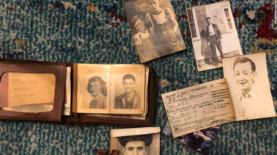 Her missing wallet from the 1940s was found in a high school bathroom wall