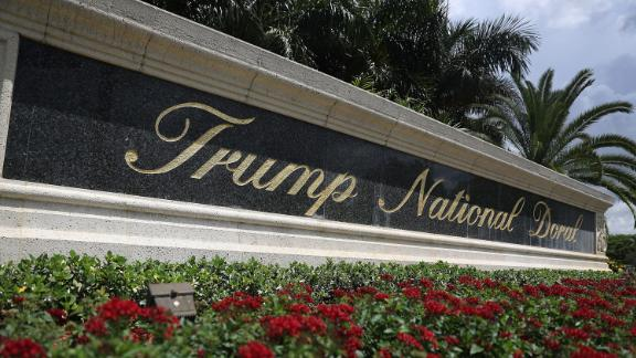 DORAL, FL - JUNE 01:  A sign reading Trump National Doral is seen on the grounds of the golf course owned by Republican presidential candidate Donald Trump on June 1, 2016 in Doral, Florida.  Reports indicate that a PGA Tour event that has been held at the Trump National Doral since 1961 is heading to Mexico City in 2017.  (Photo by Joe Raedle/Getty Images)