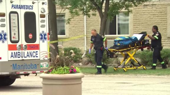 Dozens of people have been taken to the hospital after a carbon monoxide leak at a Super 8 Motel in Winnipeg, Canada.