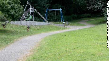 The woman was allegedly raped in this park in Mülheim, Germany.