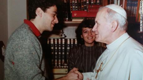 Pietro Orlandi meeting with Pope John Paul II before Emanuela went missing.