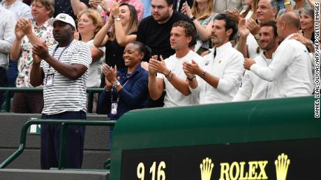 Gauff's parents, Corey and Candi,   and members of her team including Patrick Mouratoglou.