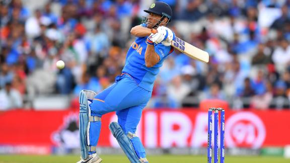 MS Dhoni provided some stability for India during the run chase.