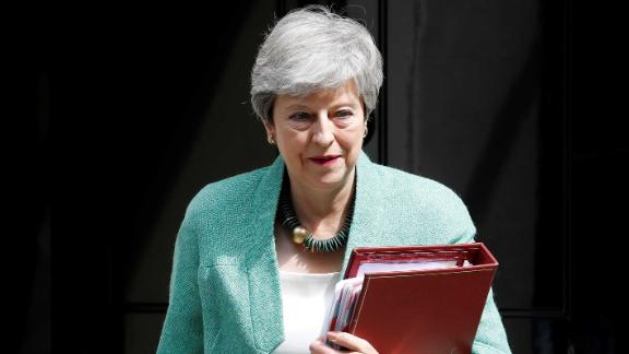 """Theresa May said she was """"worried about the state of politics."""""""