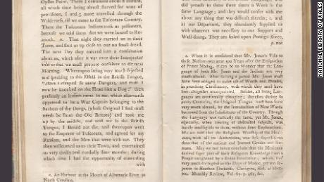 "Pages from ""An enquiry into the truth of the tradition concerning the Discovery of America, By Prince Madog ab Owen Gwynedd, about the year, 1170,"" by historian John Williams, published in 1791."