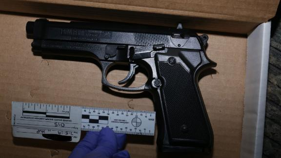 Authorities say a replica of a Beretta 92FS gun was found at the scene of the officer-involved shooting that killed 17-year-old Hannah Williams.