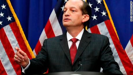 Alex Acosta defends role in Epstein sexual abuse scandal