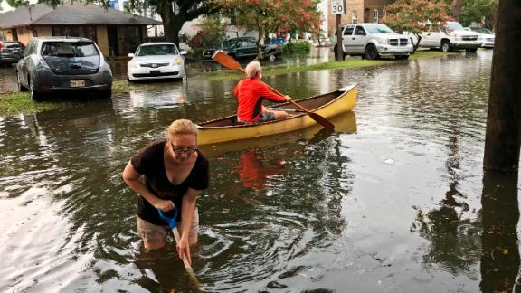 The Broadmoor neighborhood in New Orleans was flooded Wednesday.