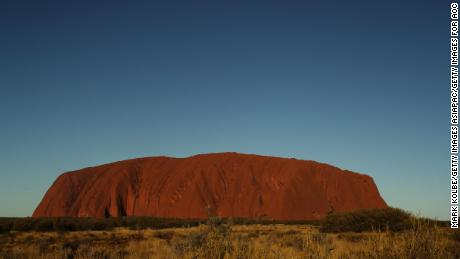 A general view of Uluru, in Australia's Northern Territory. The ancient monument gave its name to a key indigenous rights statement.