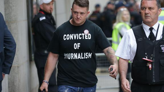 Stephen Yaxley-Lennon, aka Tommy Robinson, was sentenced to nine months in jail on Thursday.