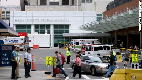 The injured EMTs were treated at Massachusetts General Hospital.
