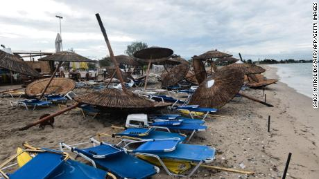 Freak storm leaves tourists dead in Greece