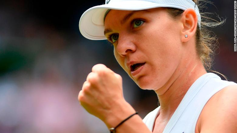 Simona Halep will contest her first Wimbledon final Saturday.