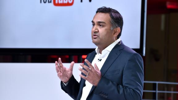 LOS ANGELES, CA - FEBRUARY 28:  YouTube Chief Product Officer Neal Mohan speaks onstage during the YouTube TV announcement at YouTube Space LA on February 28, 2017 in Los Angeles, California.  (Photo by Jeff Kravitz/FilmMagic for YouTube)