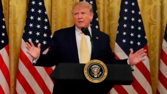 """President Donald Trump speaks during the """"Presidential Social Media Summit"""" in the East Room of the White House"""
