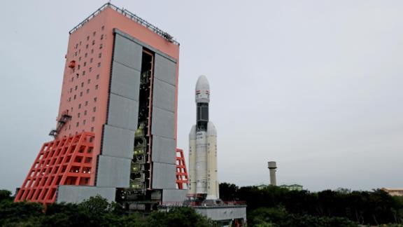 The GSLV MarkIII-M1 rocket vehicle that will launch India