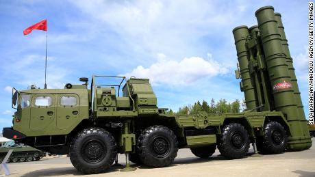 The S-400 surface-to-air missile launcher is seen at the ARMY-2019 International Military and Technical Forum' in Moscow in June.