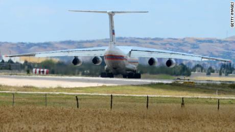 The Russian AN-124 cargo plane lands in Ankara on July 12 carrying parts of the S-400 system.