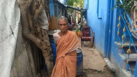 Muniamma K., 65, says she is struggling to access water on a daily basis.