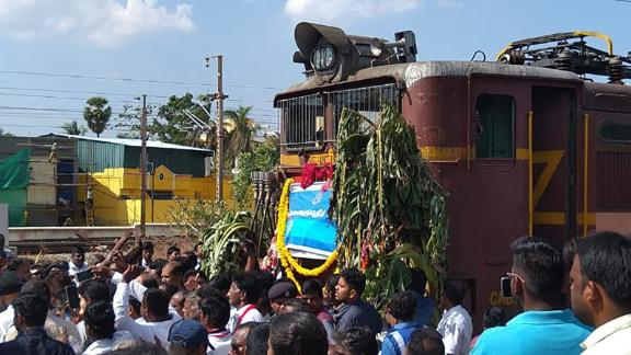 The first water train arrived in Chennai on Friday.