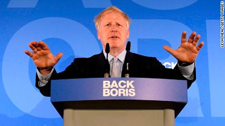 Boris Johnson launches his Conservative Party leadership campaign in June 2019.
