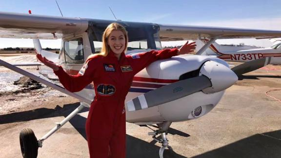 Abby recently received her private pilot