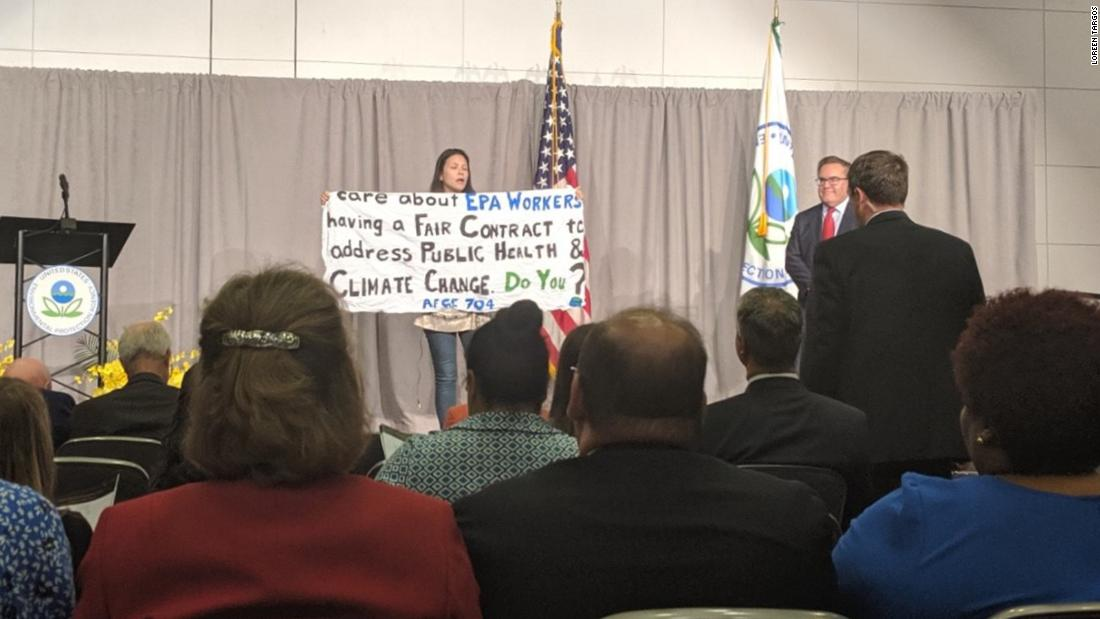 EPA scientist confronts administrator over climate crisis at award ceremony