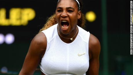 There were few moments for Serena Williams to celebrate during a comprehensive defeat.
