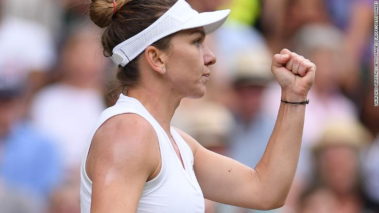 Simona Halep kept up the pressure with a display of flawless tennis in a 56-minute final.