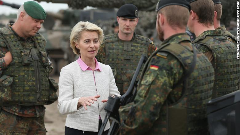 "Some German media outlets say it's ""good news"" for the military that von der Leyen is leaving her position as defense minister."