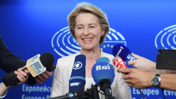 """Von der Leyen told MEPs last Wednesday that it was vital to improve the """"competitiveness"""" of the EU's economy."""