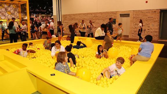 A ball pit at VidCon.