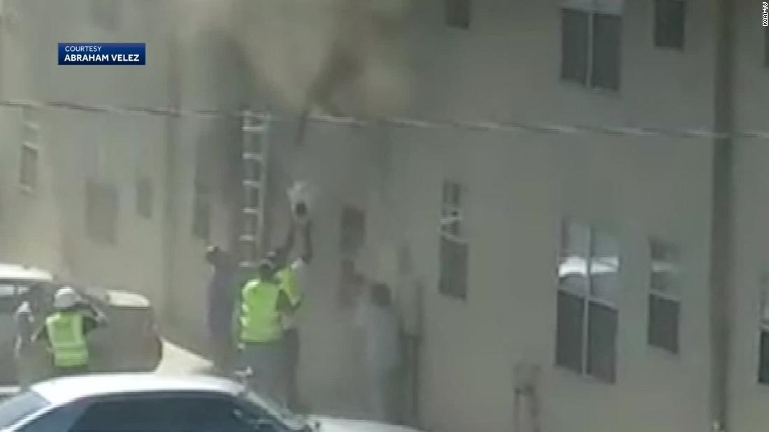 New Mexico construction worker hailed as hero after catching a baby and toddler from a burning building