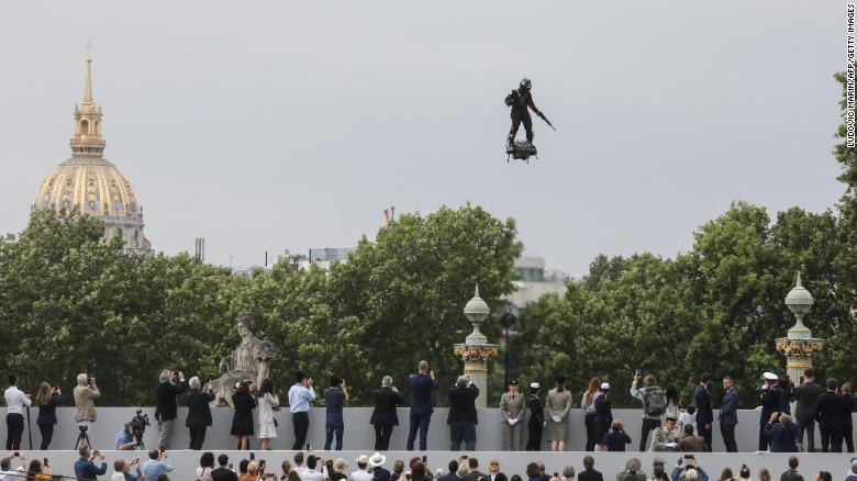French inventor whose flying board wowed the world