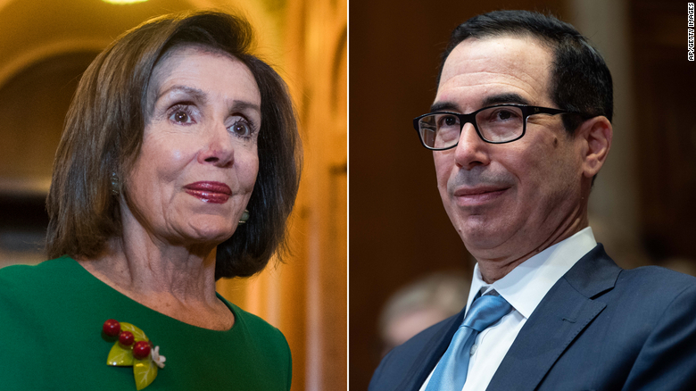 Mnuchin and Pelosi no closer on stimulus even as they agree in principle to fund the government