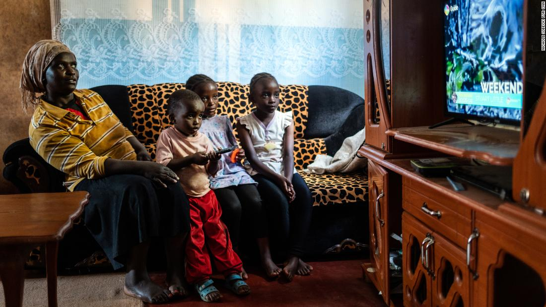 China is slowly expanding its power in Africa, one TV set at