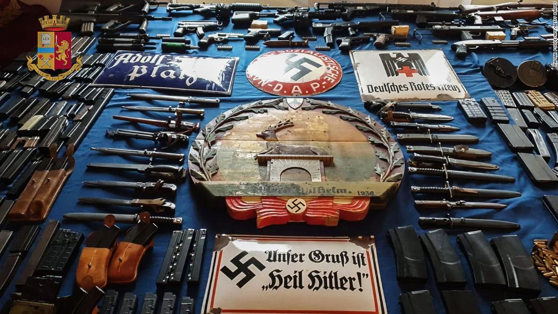 Police seize 'arsenal' of military weapons and Nazi paraphernalia