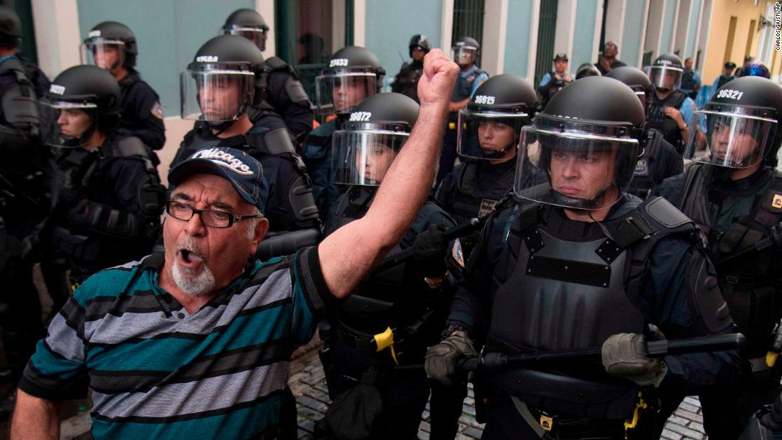 Police used tear gas on protesters calling on Puerto Rico's governor to resign. Here's how we got here